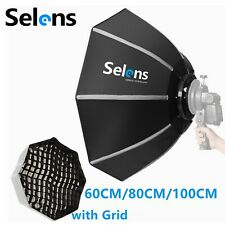 Selens Octagon Softbox Umbrella with Grid Kit Bowens Mount for Flash Speedlite
