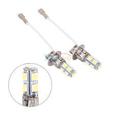 2X H3 LAMPADE LED LAMPADINE FENDINEBBIA 5050 9SMD PER AUTO 6500k~7000k