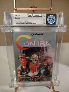 CONTRA 💎 WATA Graded 7.5 CIB💎 Complete Nintendo NES 8.5 Box!
