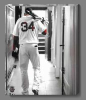 """11 X 14"""" Inch David Ortiz Boston Red Sox Color Isolated Limited Edition Canvas."""