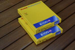 Kodak E100 VS Ektachrome Transparency Film,  2 boxes 10 Sheets each 4x5 1/2010