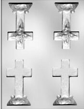 3D Cross with Base Chocolate Candy Mold from CK  #7303 - NEW