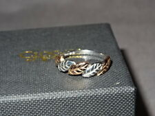 Welsh Clogau Sterling Silver & Rose Gold Awelon Ring Size P RRP £199