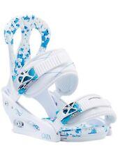2017 WOMEN'S BURTON CITIZEN SNOWBOARD BINDINGS (WHITE/BLUE) MEDIUM 6-8 BOOT SIZE