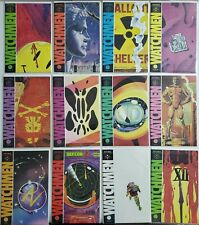 WATCHMEN #1-12 DC COMIC COMPLETE FULL RUN LOT Alan Moore HI GRADE Avg VFNM