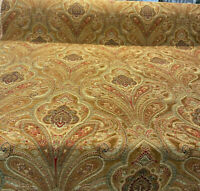 Swavelle Damask Ramiro Saddle Chenille Upholstery Fabric By The Yard