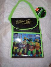 "Nickelodeon Teenage Mutant Ninja TURTLES Insulated Lunch Bag.  7"" X 10""."