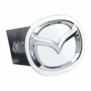 """Mazda Chrome Stainless Steel 2"""" Trailer Tow Hitch Cover"""
