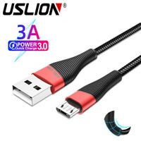 USLION Micro USB Fast Charger Data Sync Cable Braided Cord for Samsung Android