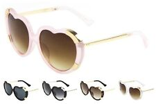 Wholesale 12 Pair Trendy Women Heart Shape Sunglasses - Assorted Colors