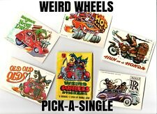 """1980 Topps Weird Wheels """"COMPLETE YOUR SET"""" -PICK-A-SINGLE- Sticker Cards"""