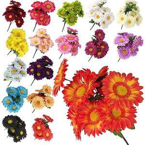 Bunch of 9 XL Gerbera Bouquet! Flower Heads Sunflower FREE POST Artificial