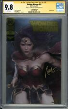 CGC SS 9.8 Wonder Woman 51 Gold Foil Variant signed by Stanley Artgerm Lau