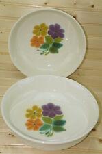 """Franciscan FLORAL Lot of (2) Vegetable Serving Bowls 9 1/2"""""""