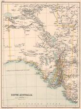 South australia. state map showing comtés. australie. bartholomew 1891