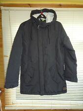 Mens Duffs Charcoal Padded Winter Waterproof Parka Coat *Size L* BNWT