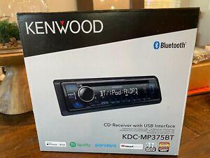 Kenwood KDC-MP375BT cd/mp3, USB-AUX, Spotify-Pandora-iHeartRadio - NEW