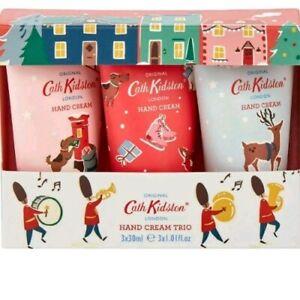 NEW Cath Kidston Mini Hand Cream Trio Set Christmas Village BEAUTIFUL GIFT