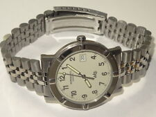 Mens Raymond Weil Parsifal W1 Model 6120 SS Date Watch Lt. Gray Dial