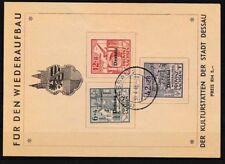 Dessau I A-III A (compleet.Kwestie.) Brieven/Documenten auf Spendenkarte mit Pla
