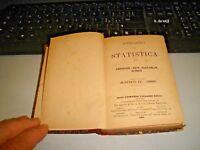 ANNUARIO DI STATISTICA ANNO II°  - VALLARDI 1885