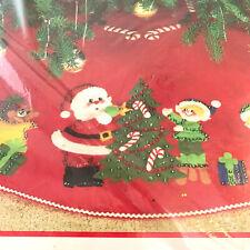 "Bucilla Christmas At Santa's 36"" Round Jewelled Felt Tree Skirt Kit 82093"