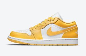 Air Jordan 1 Low Pollen Sneakers White Yellow