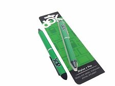 Green DOK Aluminum Stylus + Pen iPhone iPad Samsung Tablet Phone PC and Paper