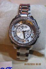 Coach Women's Silver SS Diamond Bezel Quartz Watch CA.64.7.14.0658s F98