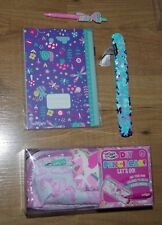 Smiggle Stationery Gift pack Girl DIY pencil case Reversible Slap Band Pen Diary