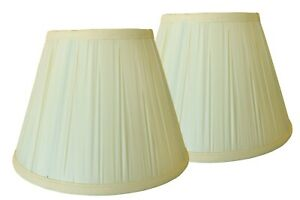 """Ivory Plastic Soft Back 6"""" x 11"""" x 8"""" Shade - Price is for a Pair"""