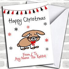 De ou pour le lapin Pet Noël personnalisées Carte