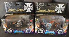 WEST COAST CHOPPERS MUSCLE MACHINES MOTORCYCLE LOT (2) EL DIABLO II& CFL RIGID