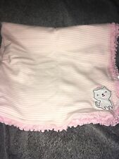 Nwt Carters Just One You Pink And White Kitty Cat Striped Baby Receiving Blanket