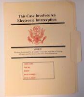 Electronic Interception Folder NRO DOD FBI DIA NSA CIA MI6 NSC NCIC DCI POLICE