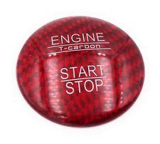 CARBONO REAL Start Stop botón Cubierta para DIV. MERCEDES-BENZ & C AMG E A ROJO