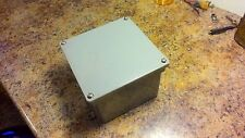 "Quantity Of (4) Water Proof E987Rr Pvc Junction Box 6"" x 6"" x 4"" Elecrticle"