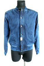 Zara Man BNWT Dark Blue Zip Up Denim Men Bomber Jacket with Pockets Size M