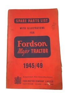 Spare Parts List With Illustrations Fordson Major tractor 1945