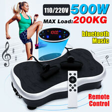500W Fitness Vibration Machine Trainer Gym Platform Slim With bluetooth