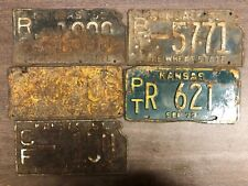 6 KANSAS Novelty Craft License Plates 1929, 1951, 1951, 1955, 1966, 1973