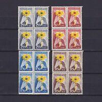 NETHERLANDS 1948, Sc# B199-B202, CV $41, flowers, set of blocks of 4, MH/MNH