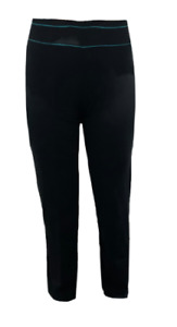 Ex M*S Black Yoga Gym Active Trousers Bottoms Joggers Stripe All Sizes (W15.20)