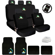 New Ultimate Frog Seat Steering Wheel Covers Floor Mats Gift Set For VW