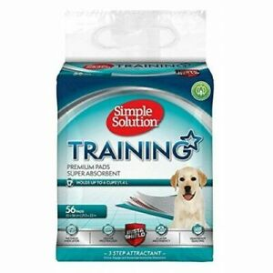 Simple Solution Puppy Dog Training Pads holds 6Cups/1.4L 56 Pads