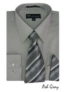 Men's Fortino Landi Dress Shirt w/ Matching Tie and Handkerchief Set Style SG21A