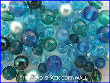 Glass Bead Mix / Bracelet Making Kit - Blue Lagoon