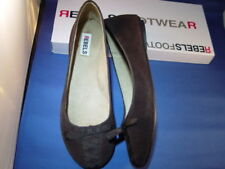 NEW REBELS KORSET LEATHER BROWN  FLAT SHOES SZ6.5M