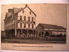 J Frank Lutz's Hardware Store & Carriage Repository in Stevens PA OLD