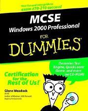 MCSE Windows 2000 Professional for Dummies by Glenn Weadock (2000, Paperback)